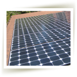 A finished large solar panel array installed by Mendocino Solar Service.