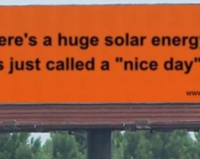 bilboard: When there's a huge solar energy spill, it's just called a