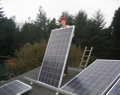 rooftop solar installation by Mendocino Solar Service of Mendocino County, California