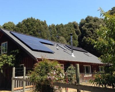A recent Mendocino Solar Service installation in Mendocino, photo courtesty of M. Daniel