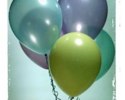 party balloons to celebrate energy independence and solar energy