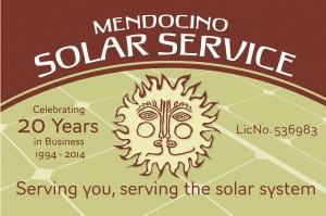 Mendocino Solar Film Festival Sponsor Logo 20th anniversary